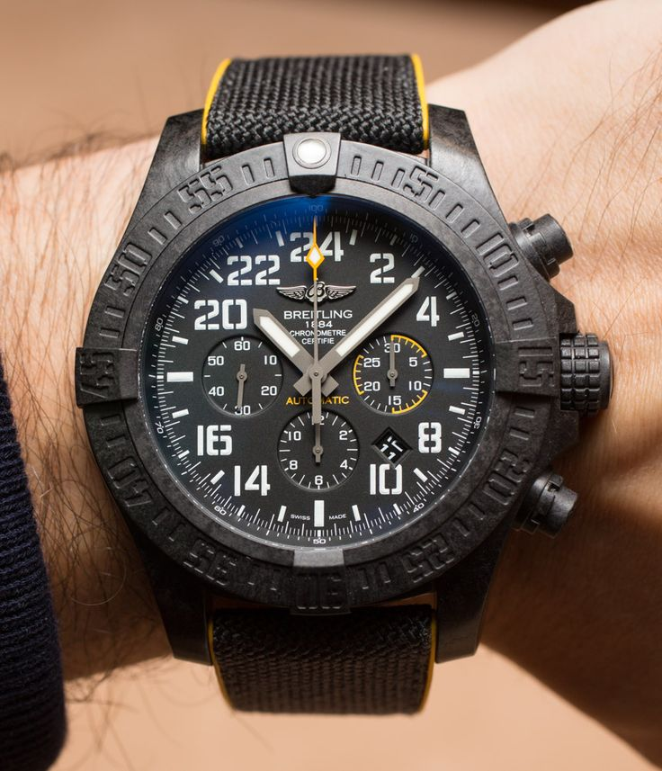 """Breitling Avenger Hurricane Watch Hands-On - by Ariel Adams - More awesome shots up now at: aBlogtoWatch.com """"At Baselworld 2016, I got to play with the first watch using Breitling's so-called 'Breitlight' case material, which is the Breitling Avenger Hurricane (debuted on aBlogtoWatch). This is a deceptively cool watch even though it clearly isn't for everyone. With that said, I really like it when brands like Breitling produce intentionally niche watches like this that work really well..."""""""