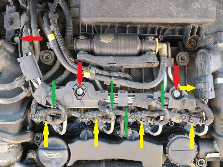 fuite au niveau d 39 un injecteur sur partner 1 6 hdi moteur diesel voitures motos et garage
