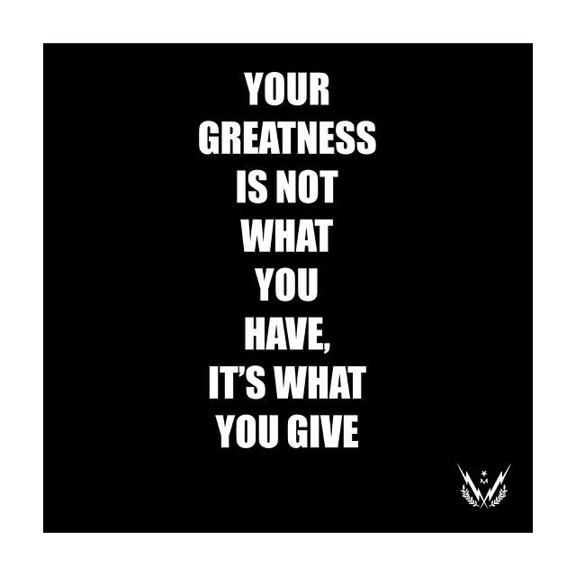 Be great. #generosity #maxusstrong