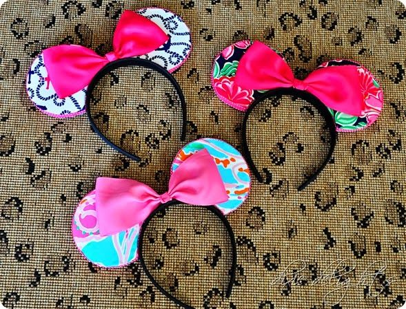 DIY Custom Minnie Mouse Ears - : Lilly, Disney, preppiness, pink, hair accessories
