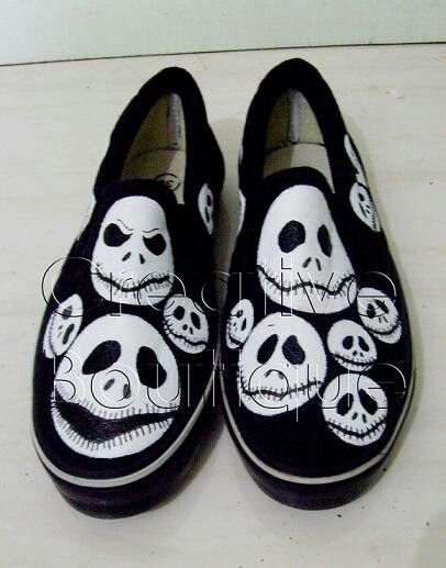 Painting shoes Jack Skellington Only 125k-135k