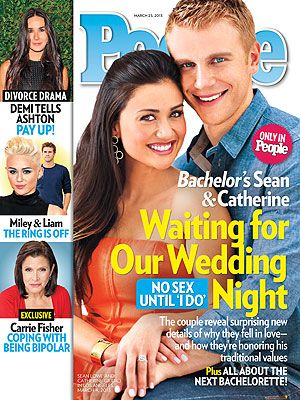 ON NEWSSTANDS 3/15/13: The Bachelor's Sean Lowe & Catherine Giudici Talk Sex Before Marriage. Plus: Miley & Liam, Demi's divorce and more