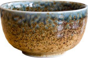 Brown blue matcha bowl