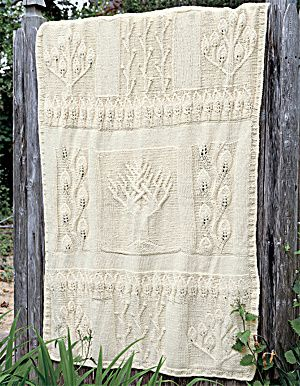 Free Knitting Pattern For Tree Of Life Baby Blanket : Image of Nature in Natural Afghan - free patternAfghan Patterns, Knits Trees,...