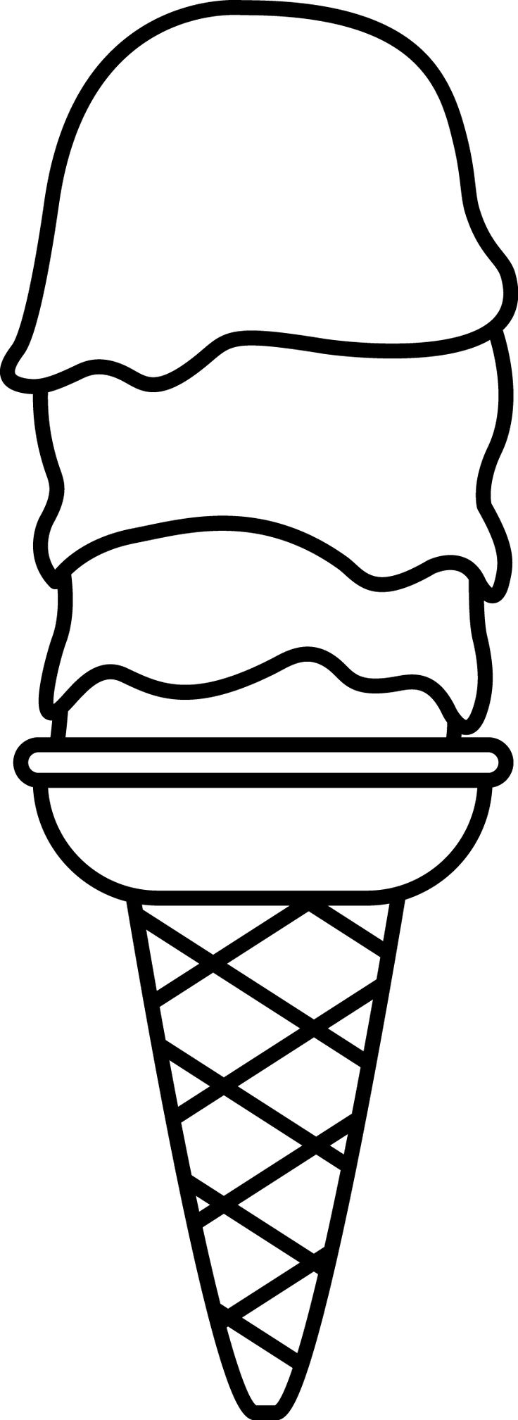 Icecream Coloring pages Ice