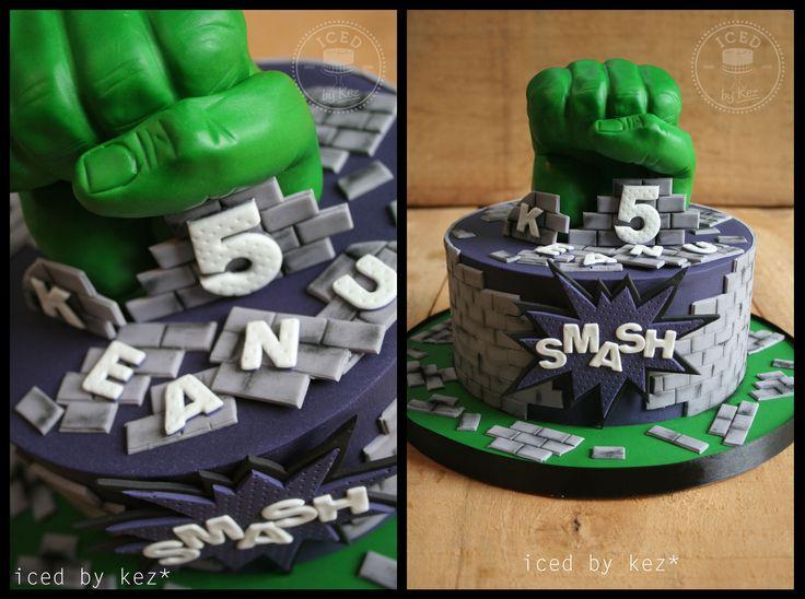 Hulk fist Smash Cake :) kez* x