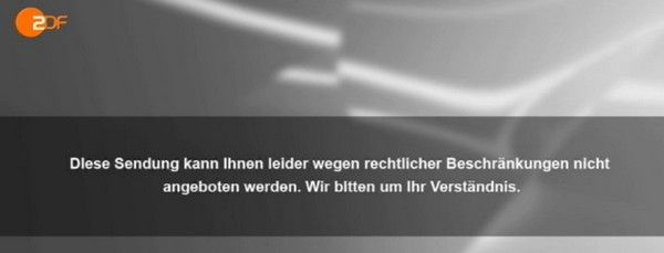 Get rid of this message and watch #ZDF from all over the world!