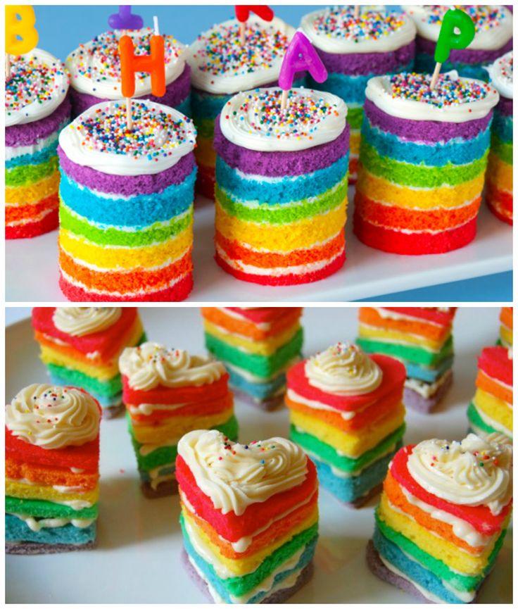 Mini naked cake coloridoe - Foto: Pinterest