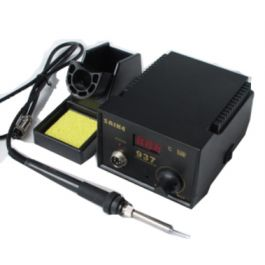 Saike 937 Soldering Station ( 220V )  Features:  Temperature range: 200°C-500°C  Heating components: chinaware  LED digital display  Contents: 1 x Main Unit  1 x English Manual  1 x free soldering iron Buy 2 for $53.95 each and save 4%