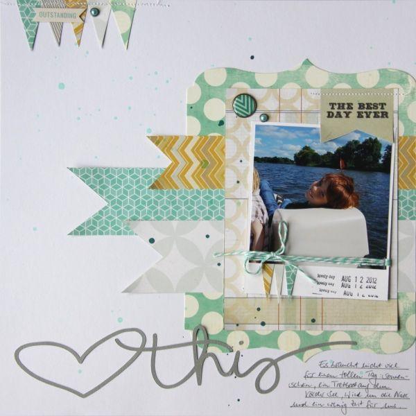 Layout mit dem dp Dezember-Kit + Dear Lizzy Roller Date Stamp von © Tanja Bargsten für www.danipeuss.de