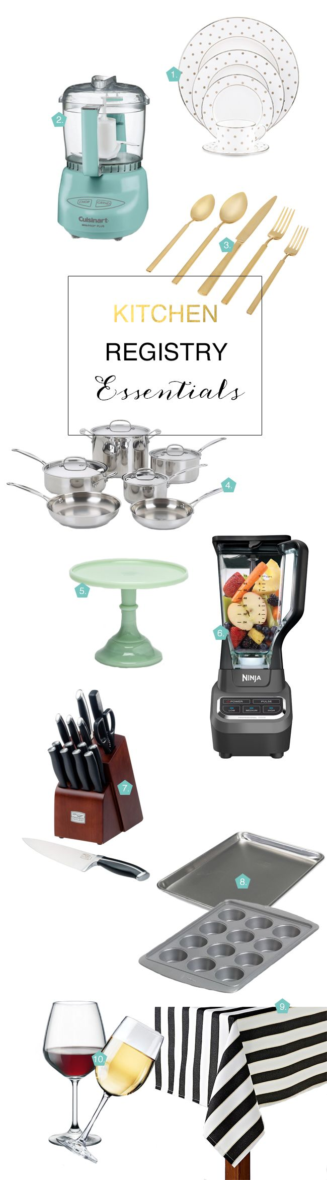 Must Have Kitchen Items To Register For Wedding Registry