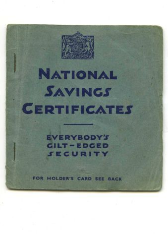 The front cover of Maureen Harris' booklet for National Savings Certificates SUBMITTED maureen-oct-03