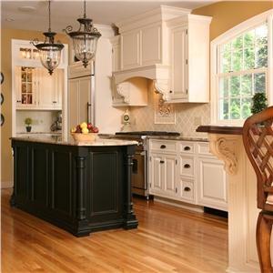 Traditional victorian colonial kitchen ramsjo black for Traditional victorian kitchen designs