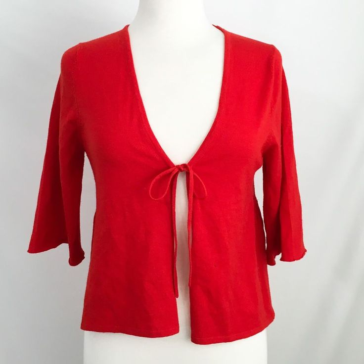 Leroy And Perry By Lutz and Patmos For Barneys CO-OP Red Cardigan S A14-1 #BarneysCOOP #Cardigan