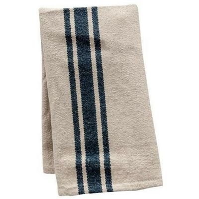 Grain Sack Gray Stripe Towel - Set of 2 - Our Grain Sack Gray Stripe Towels come in a set of two. These towels are made from naturally colored cotton with three gray stripes down the center. These charming towels are a great country accent for your country, primitive, or farmhousekitchen.
