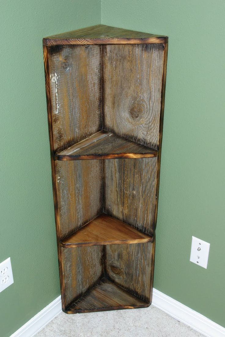 Old Barn Wood Home Decor | Easy to place decorative corner shelf. This can be built to the size ...