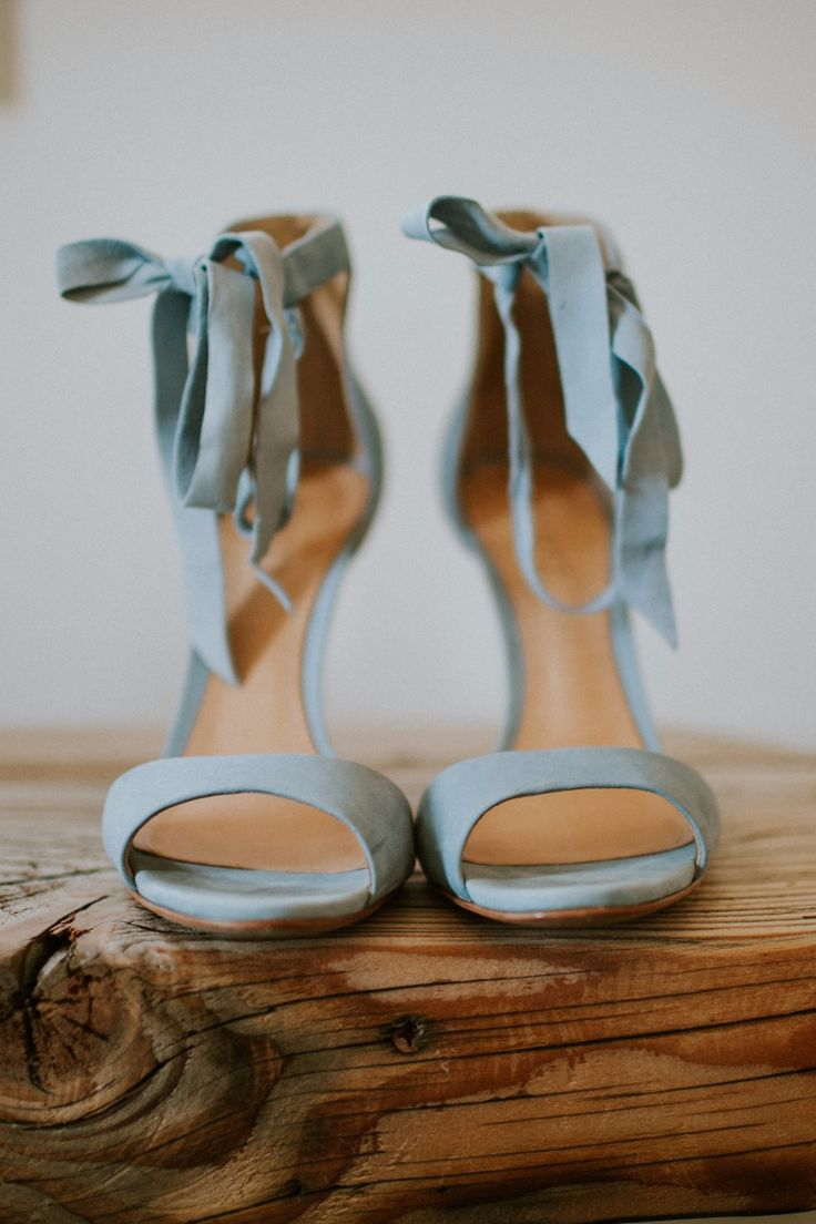 Blue Suede Heels. The perfect wedding heels.