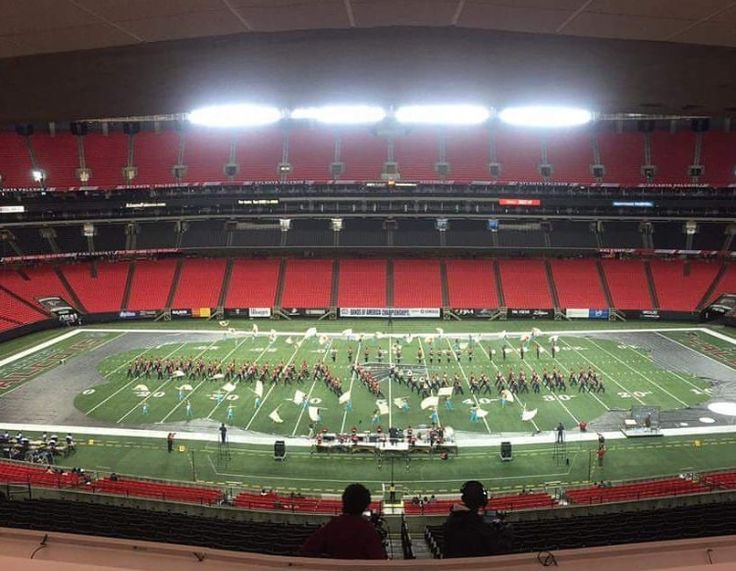 Pride of mill creek hs marching band at the Georgia dome BOA