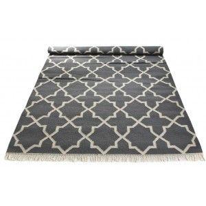 Grey & white geometric rug by Floor It