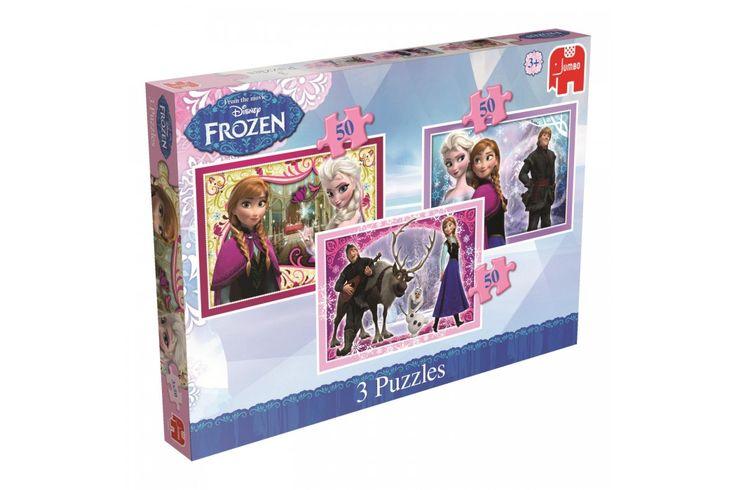 Drie keer zoveel puzzelplezier! Het is puzzelen geblazen met deze Frozen puzzel set met 3 puzzels! Maak de puzzels met 50 stukjes in je eentje of met je vriendjes en vriendinnetjes en haal al jouw Frozen helden tevoorschijn. #jumbo #frozen #puzzel #kindercadeau #disney
