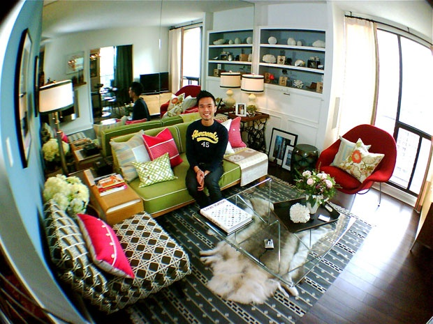 The Before Shot: DesignMaze's small space, big style makeover. Tim Lam, a Toronto-based design blogger and founder of DesignMaze, gives his condo living room a fresh take for the sunny season. Here, the before shot and three top picks for his revamped space.
