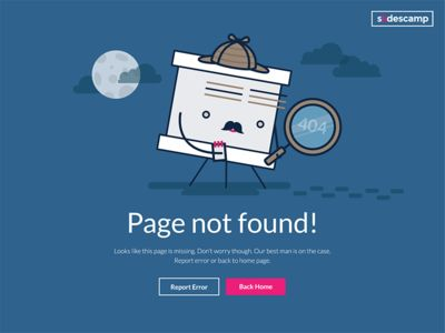 Page Not Found illustration #magdagogo #illustration #error #errorpage #404 #vector