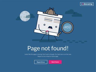 Page Not Found illustration #magdagogo #illustration #error #errorpage #404 #vector