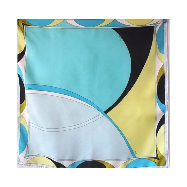 seta, sciarpa, seidentuch, vintage, pas cher Scarf, made in italy, collection, Foulard Carré, emilio pucci