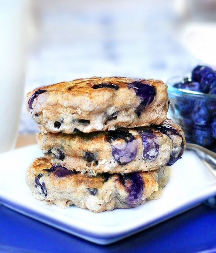 These blueberry pie pancakes have been described as being the fluffiest pancakes ever!