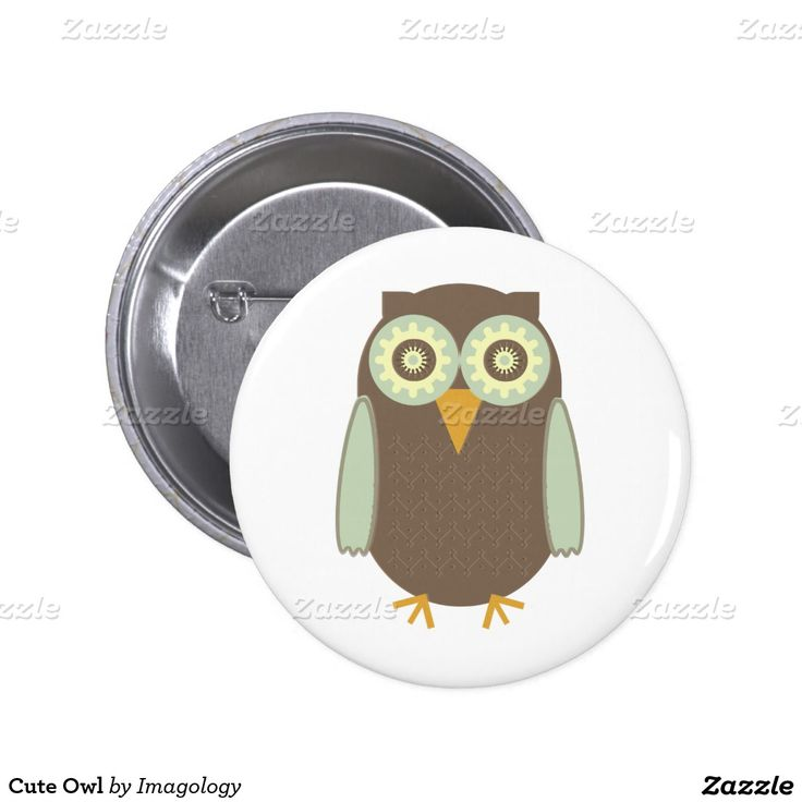 Cute Owl Pinback Button