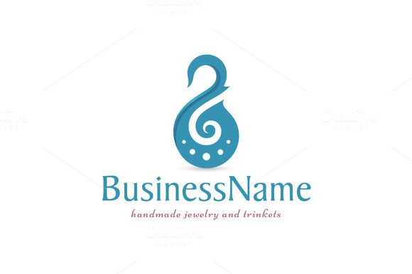 For sale. Only $29 - elegant, sharp, jewel, swan, beauty, transformation, bird, neck, luxury, harmony, spiral, clef, purity, whirl, piercing, earring, trinket, ornament, jewelry, creative, art, spa, music, symphony, orchestra, elegance, purity, blue, logo, design, template,