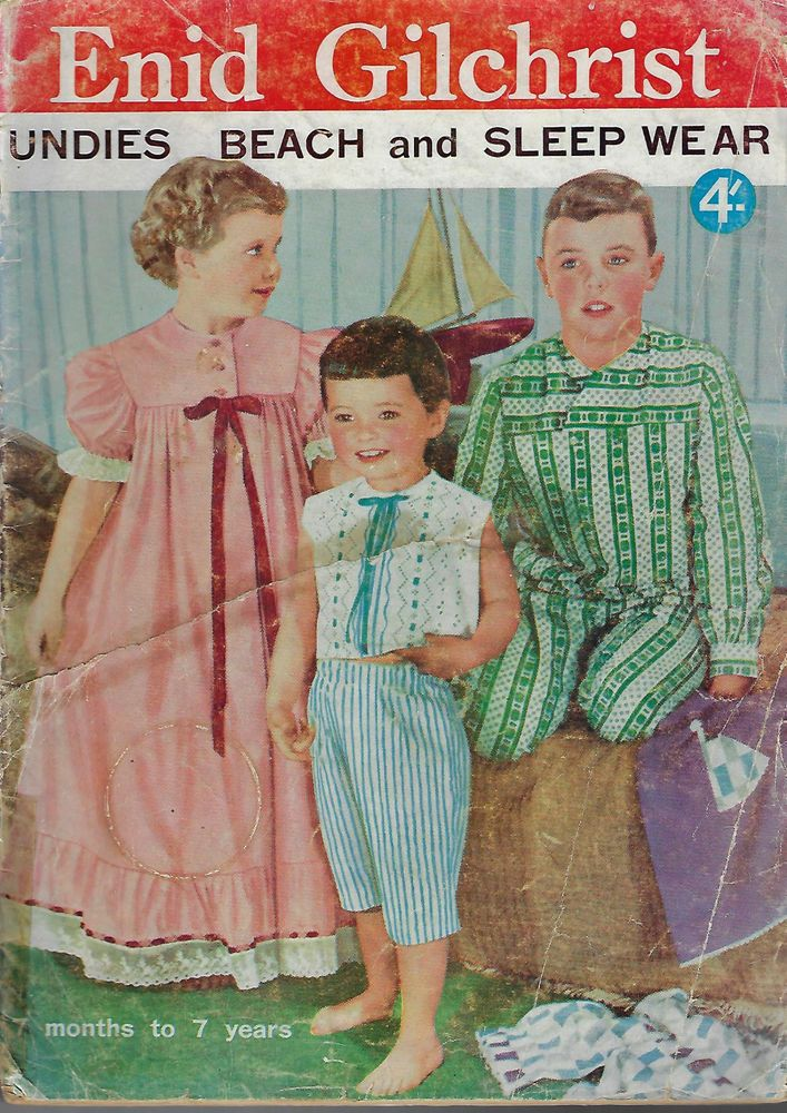 Enid Gilchrist CHILDREN Undies Beach & Sleepwear vintage sewing pattern book #EnidGilchrist