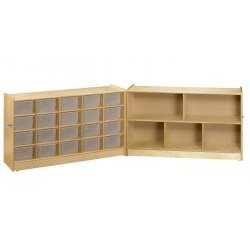 Fold and Lock 20 Tray Mobile Cubby - by A & E Wood Design