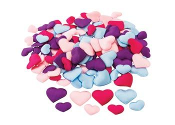 Puffy Heart Shapes – Pack of 130