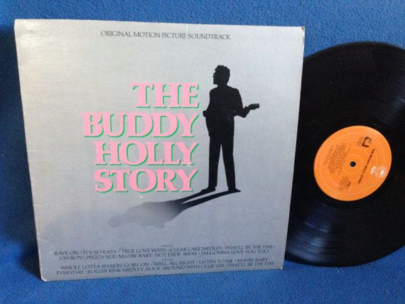 "Vintage, ""The Buddy Holly Story"" - Original Motion Picture Soundtrack, Vinyl LP, Record Album, Gary Busey, Peggy Sue"