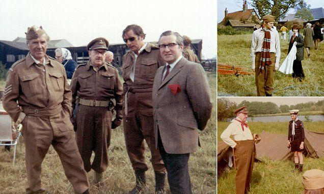 Never-before-seen photos of original Dad's Army stars relaxing on set