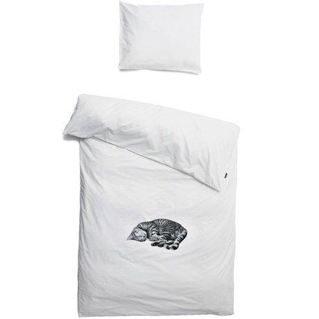 Snurk sängkläder - Katt, Påslakan och örngott, enkelsäng