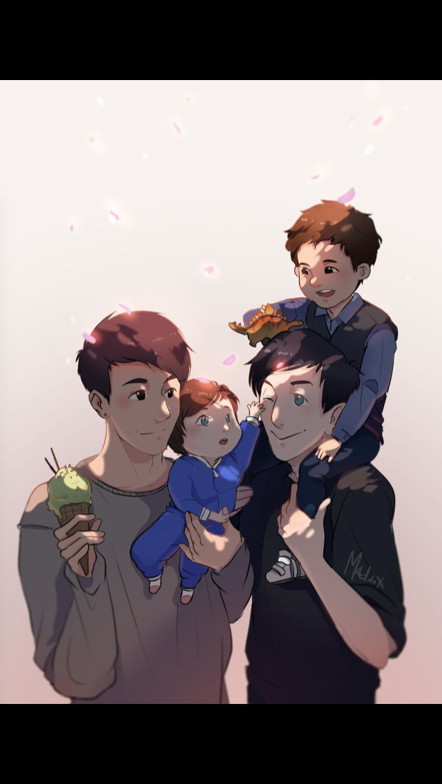 The perfect family!!! Can't handle this cuteness!! (Made my Maddox)