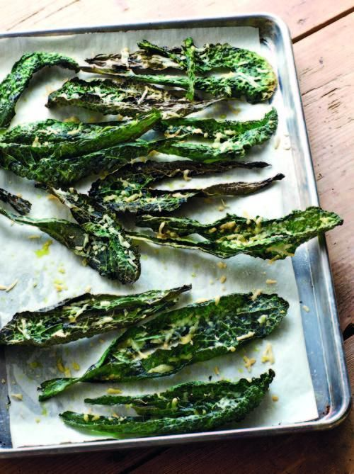Kale is a delicious vegetable that seems to be everywhere now. If you can find flat kale, it can be roasted for the perfect light bite to serve with drinks.