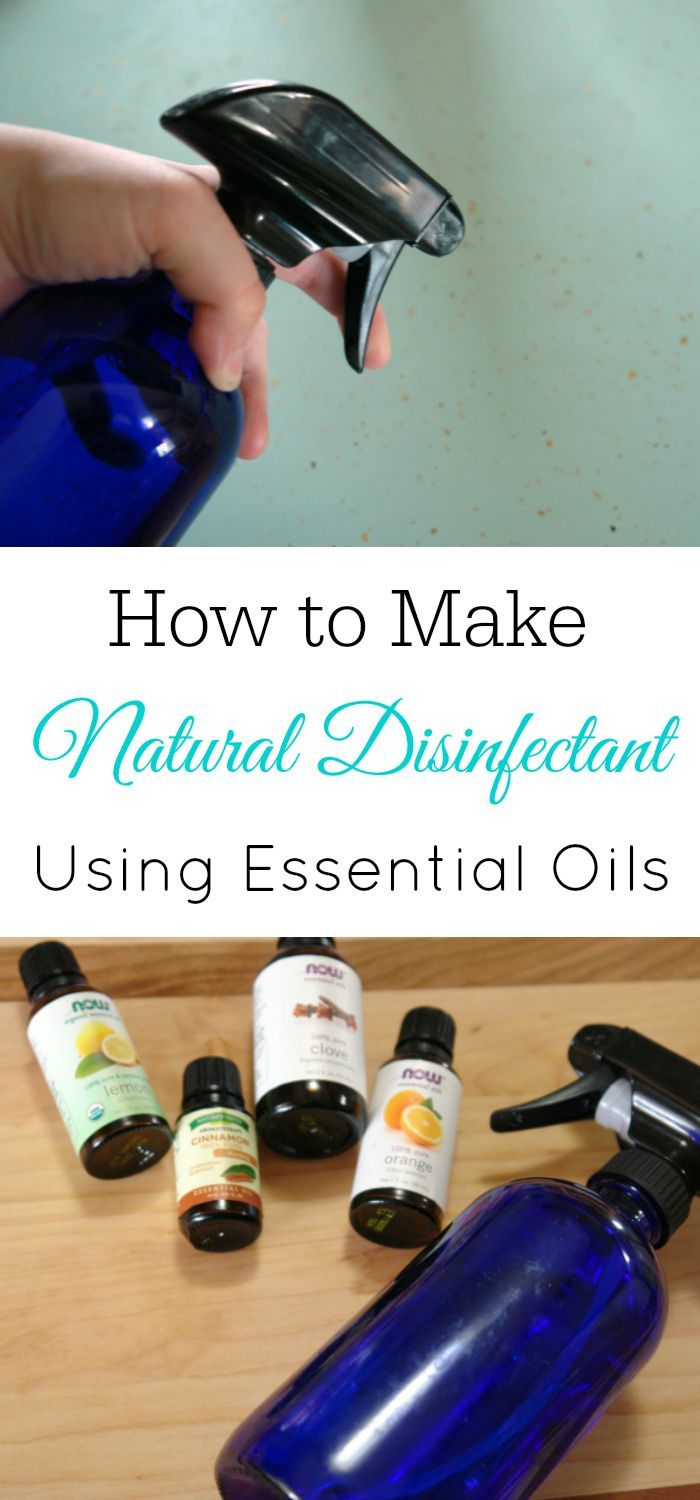 Natural Disinfectant Spray, Essential Oil Recipe, DIY Cleaner, Antibacterial spray, DIY essential oils