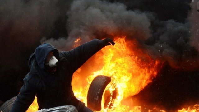Violent protests in Ukraine have spread beyond the capital, Kiev, as President Viktor Yanukovych held crisis talks with three key opposition...