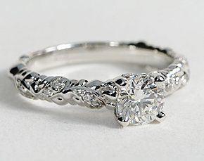 eiros™ Vine Diamond Engagement Ring in 14k White Gold #BlueNile #Engagement