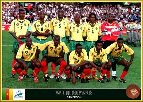 Fan Pictures 1998 Fifa World Cup France Cameroon Team World Cup Fifa World Cup France World Cup Teams