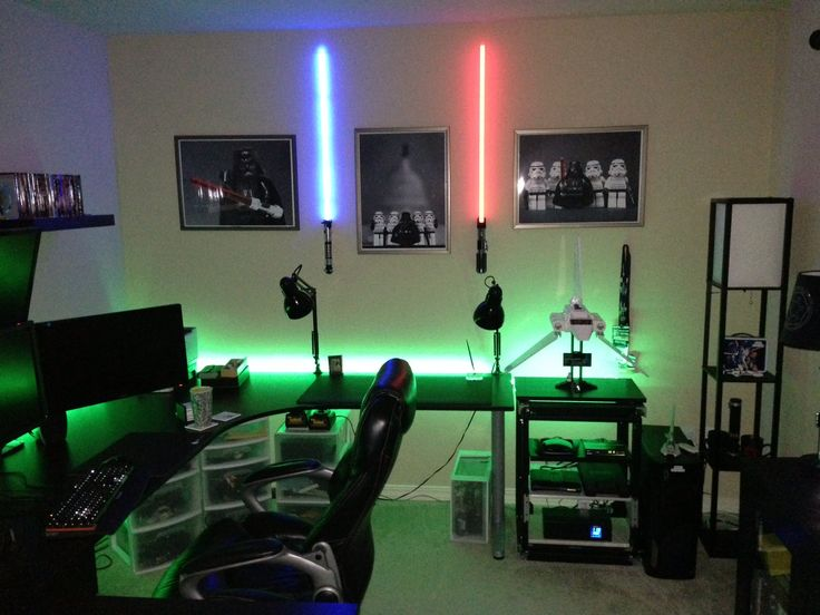 17 best images about game room and office on pinterest for Small room 7 1 setup