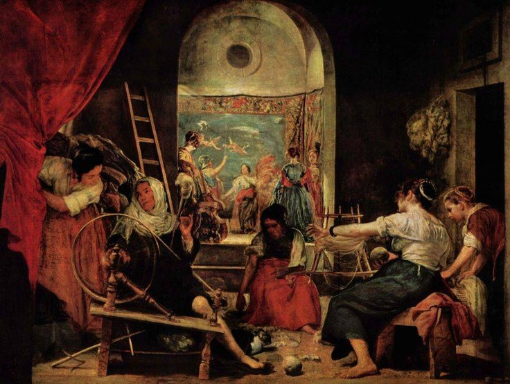 Diego Velazquez - Las Hilanderas (The Spinners). Prado Museum,Madrid Spain.