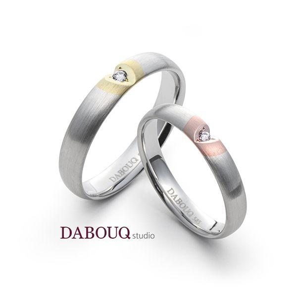 Dabouq Studio Heart Couple Ring - DR0004 - Simple+