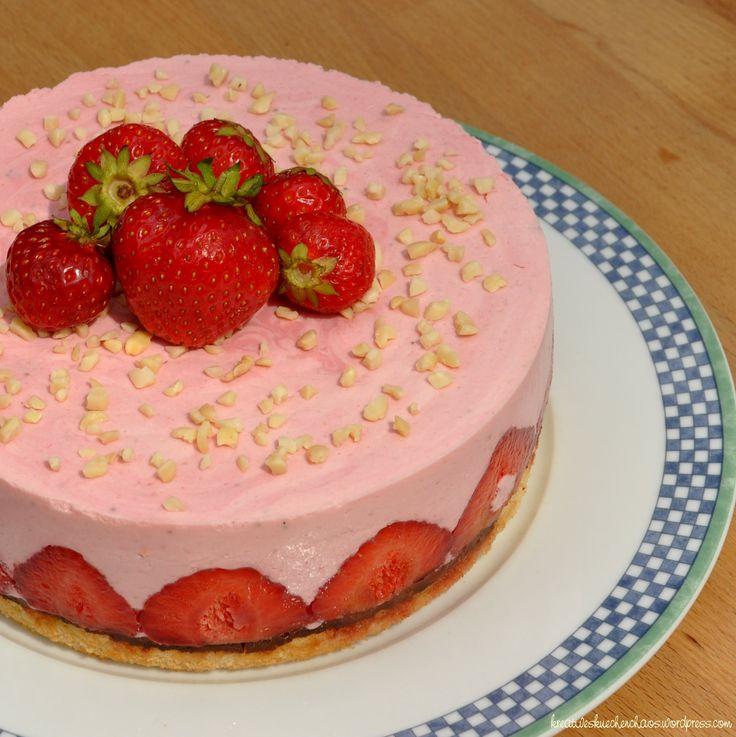 Erdbeer-Quark-Torte // Torta de frutillas con queso quark
