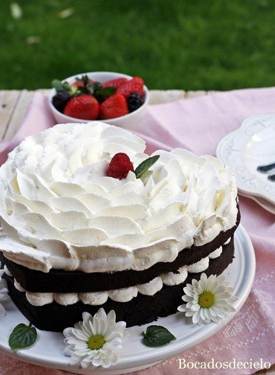 Tarta de chocolate en microondas