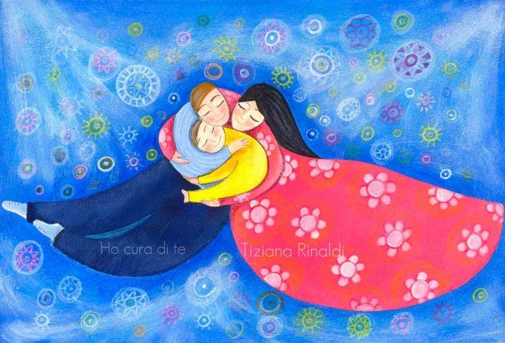 Ho cura di te - Tiziana Rinaldi #painting #art #love #family