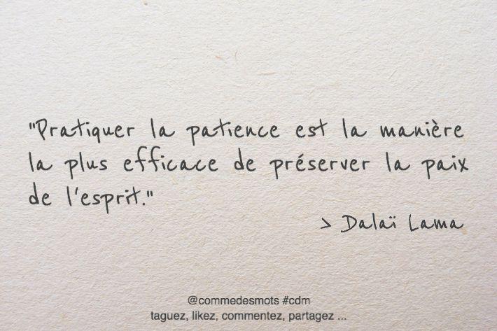 Pratiquer la patience - Comme Des Mots